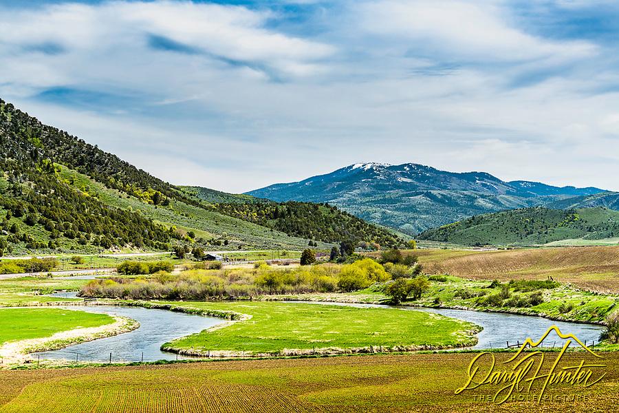 The Portneuf River near Lava Hot Springs Idaho