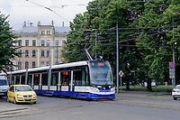Straßenbahn in Riga, Lettland, Europa, Unesco-Weltkulturerbe