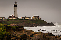 New Year's day 2020 at Pigeon Point Light House north of Año Nuevo State Park on the California Coast.