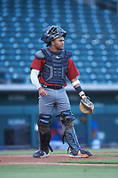 AZL Dbacks catcher Oscar Santos (8) during an Arizona League game against the AZL Cubs 2 on June 25, 2019 at Sloan Park in Mesa, Arizona. AZL Cubs 2 defeated the AZL Dbacks 4-0. (Zachary Lucy/Four Seam Images)
