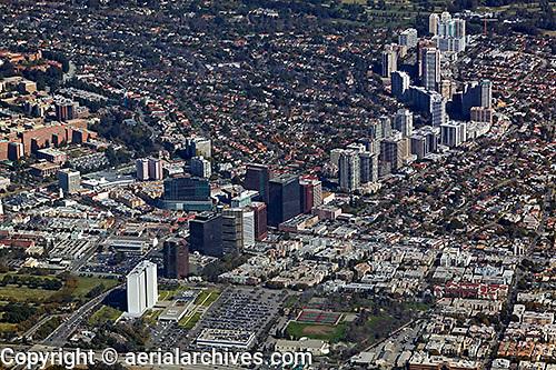 aerial photograph Wilshire Boulevard, Los Angeles, California