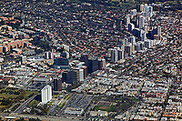 aerial photograph of Wilshire Boulevard, Los Angeles, California