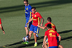 Spanish player Paco Alcacer durign the first training of the concentration of Spanish football team at Ciudad del Futbol de Las Rozas before the qualifying for the Russia world cup in 2017 August 29, 2016. (ALTERPHOTOS/Rodrigo Jimenez)