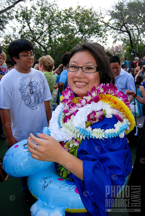 High school graduation from Academy of the Pacific in Alewa heights above Honolulu
