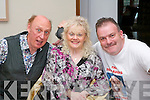 Paul Malone, Mary B Horan and Ted Cronin at the dogs laugh comedy festival at the Carlton hotel on Sunday.