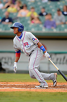 Round Rock Express second baseman Yangervis Solarte #26 during a game against the New Orleans Zephyrs on April 15, 2013 at Zephyr Field in New Orleans, Louisiana.  New Orleans defeated Round Rock 3-2.  (Mike Janes/Four Seam Images)