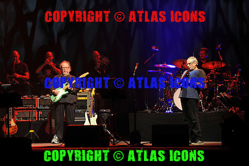 WEST PALM BEACH, FL - JUNE 29: Walter Becker and Donald Fagen of Steely Dan perform at The Perfect Vodka Amphitheater on June 29, 2016 in West Palm Beach Florida. Credit Larry Marano © 2016