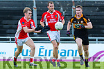 W'Kerry's Cian O'Murchu and Stack's Greg Horan  at the Garvey's Supervalu Senior County Football Championship Quarter Finals West Kerry V Austin Stacks at Austin Stacks Park on Saturday