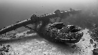 Wreck of a PBY Catalina Flying Boat, Biak, West Papua, Indonesia, Pacific Ocean