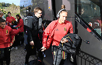 20200304  Parchal , Portugal : Belgian Maud Coutereels pictured getting out of the bus before the female football game between the national teams of New Zealand , known as the Football Ferns and Belgium called the Red Flames on the first matchday of the Algarve Cup 2020 , a prestigious friendly womensoccer tournament in Portugal , on wednesday 4 th March 2020 in Parchal , Portugal . PHOTO SPORTPIX.BE | DAVID CATRY