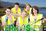 Teenagers from Killarney Youth reach who held a clean up in Ross Castle in conjunction with the Killarney Tidy towns on Tuesday l-r: Molly Dwyer, Dwayne O'Connell, Amber Ramsey, Majella Hegarty and Dajana Siwiec........