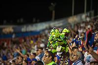 VALENCIA, SPAIN - SEPTEMBER 11: Levante fan during BBVA LEAGUE match between Levante U.D. And Sevilla C.F. at Ciudad de Valencia Stadium on September 11, 2015 in Valencia, Spain