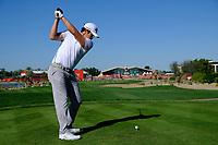 Nacho Elvire (ESP) on the 9th tee during the 2nd round of the Abu Dhabi HSBC Championship, Abu Dhabi Golf Club, Abu Dhabi,  United Arab Emirates. 17/01/2020<br /> Picture: Fran Caffrey   Golffile<br /> <br /> <br /> All photo usage must carry mandatory copyright credit (© Golffile   Fran Caffrey)