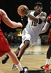 Chris Davis of the Reno Bighorns makes a play against Fort Wayne Mad Ants in Friday night's minor league basketball game, Feb. 11, 2011, at the Reno Events Center in Reno, Nev. .Photo by Cathleen Allison