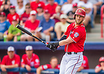 5 March 2016: Washington Nationals outfielder Bryce Harper in action during a Spring Training pre-season game against the Detroit Tigers at Space Coast Stadium in Viera, Florida. The Nationals defeated the Tigers 8-4 in Grapefruit League play. Mandatory Credit: Ed Wolfstein Photo *** RAW (NEF) Image File Available ***