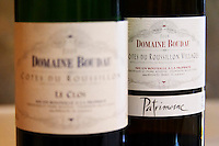 Cuvee Patrimoine. Domaine Boudau, Rivesaltes. Roussillon. France. Europe. Bottle.