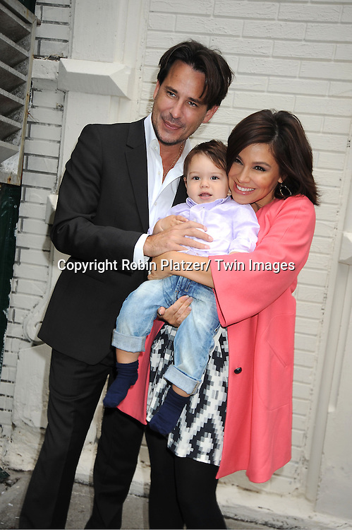 Ricky Paull Goldin, son Kai Rei and fiancee Gretta Monahan attending the Good Night Pine Valley Event co-hosted by All My Children actors Ricky Paull Goldin and Alicia Minshew on September 17, 2011 at Prohibition in New York City
