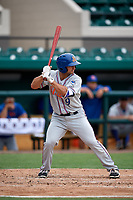 St. Lucie Mets second baseman Vinny Siena (9) at bat during a game against the Lakeland Flying Tigers on June 11, 2017 at Joker Marchant Stadium in Lakeland, Florida.  Lakeland defeated St. Lucie 1-0.  (Mike Janes/Four Seam Images)