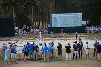 PINEHURST, NC - JUNE 15: Kaymer holds trophy up. Scenes from the U.S. Open Championship at Pinehurst, North Carolina on Sunday, June 15, 2014. (Photo by Landon Nordeman)