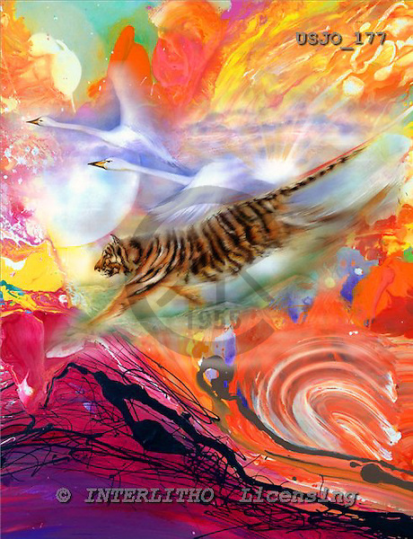 Marie, REALISTIC ANIMALS, REALISTISCHE TIERE, ANIMALES REALISTICOS, paintings+++++WCsTigSwaA,USJO177,#A# ,Joan Marie, tiger