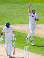 Picture by Alex Whitehead/SWpix.com - 21/04/2018 - Cricket - Specsavers County Championship Div One - Yorkshire v Nottinghamshire, Day 2 - Emerald Headingley Stadium, Leeds, England - Yorkshire's Tim Bresnan celebrates the wicket of Notts' Riki Wessels.
