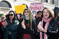 Asia Argento, the first woman that denounced to be raped by Harvey Weinstein, followed for many other actresses<br /> Roma 20/01/2018. Women&rsquo;s March Roma, marcia di solidarieta' per i diritti civili e i diritti delle donne.<br /> Rome January 20th 2018. Women&rsquo;s March Rome, march of solidarity for the civil rights and civil rights for women, organized by the American community of Rome, simultaneously with the women's march that take place worldwide on January 20th.<br /> Foto Samantha Zucchi Insidefoto