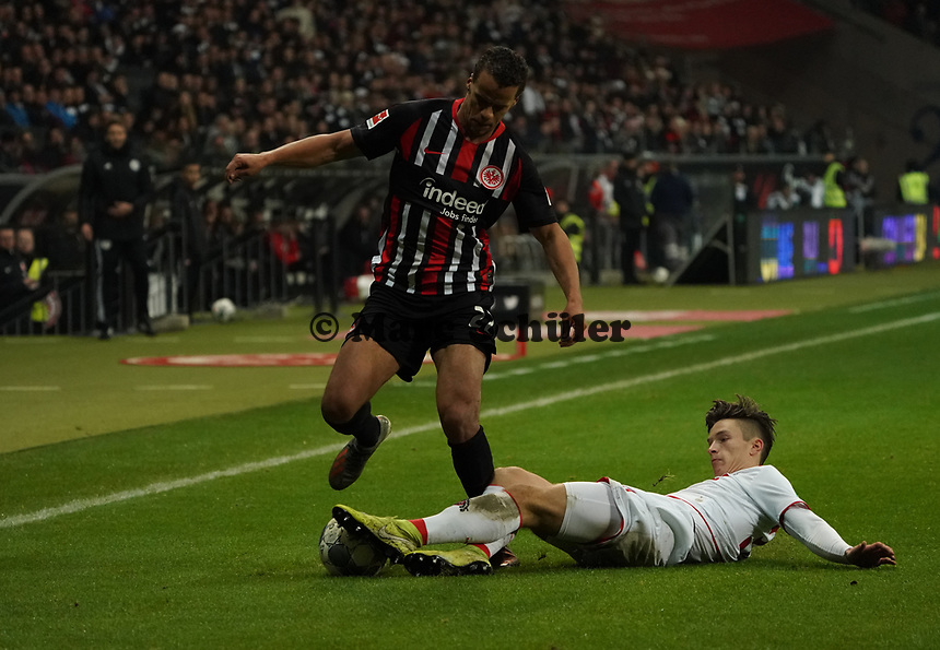 Timothy Chandler (Eintracht Frankfurt) gegen Noah Katterbach (1. FC Koeln) - 18.12.2019: Eintracht Frankfurt vs. 1. FC Koeln, Commerzbank Arena, 16. Spieltag<br /> DISCLAIMER: DFL regulations prohibit any use of photographs as image sequences and/or quasi-video.