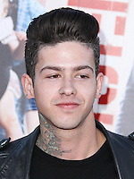 """WESTWOOD, LOS ANGELES, CA, USA - APRIL 28: T. Mills, Travis Mills at the Los Angeles Premiere Of Universal Pictures' """"Neighbors"""" held at the Regency Village Theatre on April 28, 2014 in Westwood, Los Angeles, California, United States. (Photo by Xavier Collin/Celebrity Monitor)"""