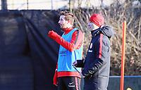 David Abraham (Eintracht Frankfurt) mit Trainer Niko Kovac (Eintracht Frankfurt) - 14.02.2018: Eintracht Frankfurt Training, Commerzbank Arena