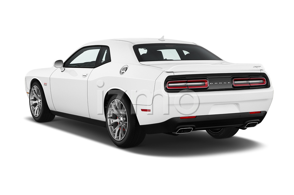 Car pictures of rear three quarter view of 2017 Dodge Challenger SRT 3 Door Coupe angular rear