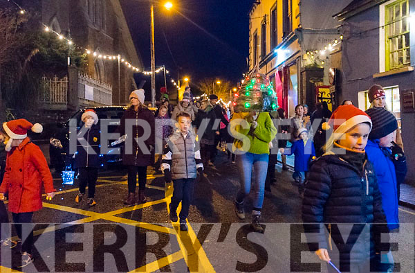 Féile na Soilse parade under way along the streets of Dingle on Sunday evening.