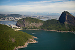 View of Urca, to the left and Sugar Loaf, right, in Rio de Janeiro, Brazil., on Saturday, Feb. 2, 2013.