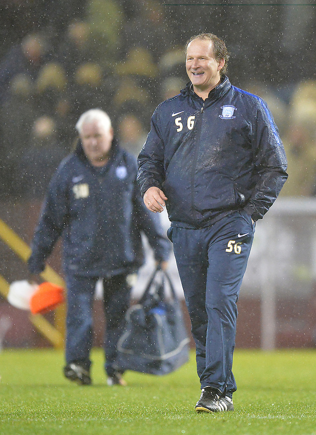 A happy Preston North End's Manager Simon Grayson<br /> <br /> Photographer Dave Howarth/CameraSport<br /> <br /> Football - The Football League Sky Bet Championship - Burnley v Preston North End - Saturday 5th December 2015 - Turf Moor - Burnley<br /> <br /> &copy; CameraSport - 43 Linden Ave. Countesthorpe. Leicester. England. LE8 5PG - Tel: +44 (0) 116 277 4147 - admin@camerasport.com - www.camerasport.com