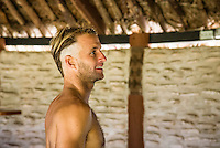 Namotu Island Resort, Nadi, Fiji (Thursday, June 9 2016): Josh Kerr (AUS) -The Fiji Pro, stop No. 5 of 11 on the 2016 WSL Championship Tour, was called off again today due to the lack of contestable swell at Cloudbreak. The contest is facing a number of lay days due to the small surf conditions and bad winds.  <br />  The party for Taj Burrow (AUS) continued today as crew came to grips with a mass haircutting session last night that saw nearly everyone on the island with mohawks. Photo: joliphotos.com