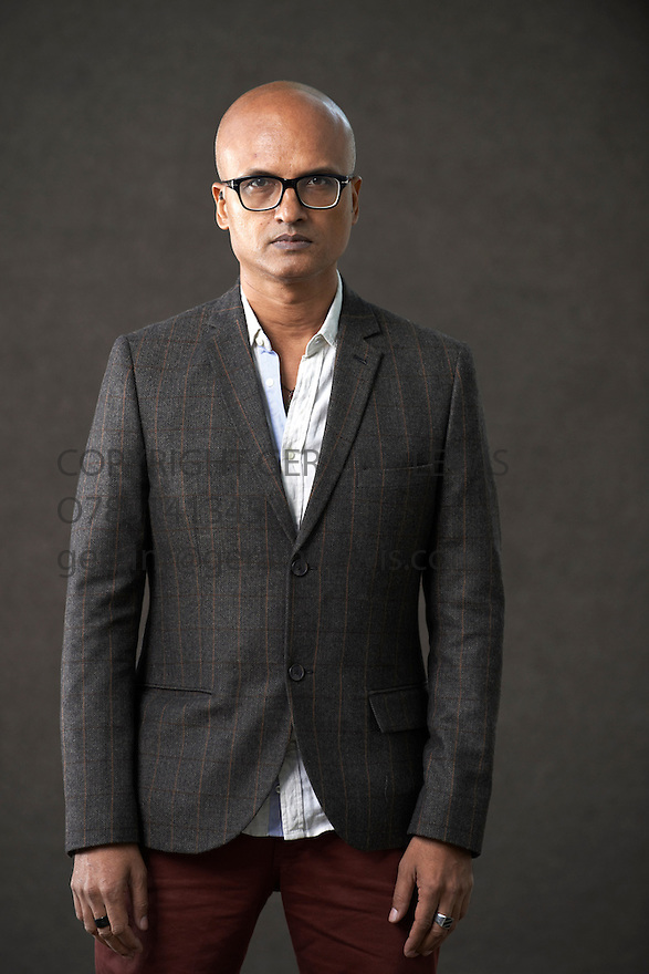 Jeet Thayil Novelist and writer of Narcopolis  at The Edinburgh International Book Festival   . Credit Geraint Lewis