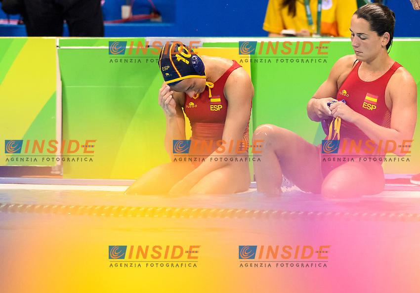Dejection Spain <br /> Rio de Janeiro 16-08-2016 Aquatic Stadium Waterpolo Quarter Finals <br /> RUSSIA RUS - SPAIN ESP <br /> Foto Andrea Staccioli/Deepbluemedia/Insidefoto