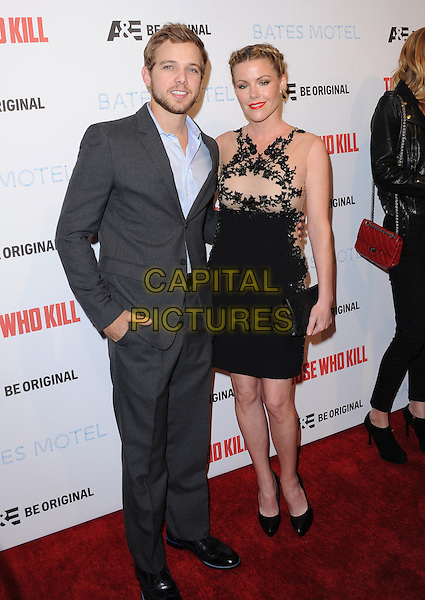 LOS ANGELES, CA - FEBRUARY 26 -Kathleen Robertson and Max Thieriot attends The Premiere Party for A&amp;E's Those Who Kill and Season 2 of Bates Motel held at Warwick in Hollywood, California on February 26,2014                                                                              <br /> CAP/DVS<br /> &copy;DVS/Capital Pictures
