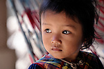Three-year old Yon Chhaya, a girl in the Cambodian village of Somrith.