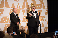 J. Miles Dale and Guillermo del Toro after the live ABC Telecast of The 90th Oscars&reg; at the Dolby&reg; Theatre in Hollywood, CA on Sunday, March 4, 2018.<br /> *Editorial Use Only*<br /> CAP/PLF/AMPAS<br /> Supplied by Capital Pictures