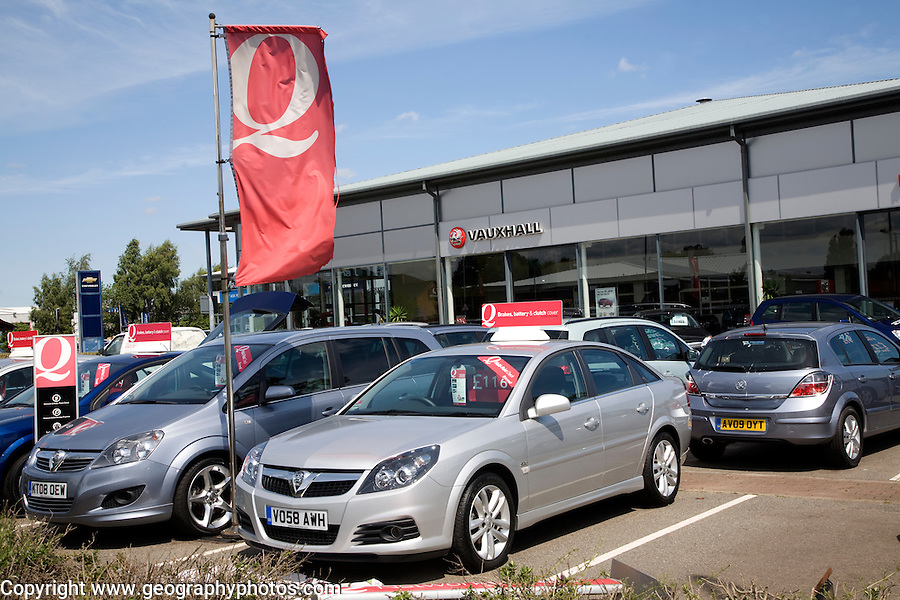 Vauxhall car sales dealership, Ransomes Europark, Ipswich, Suffolk, England