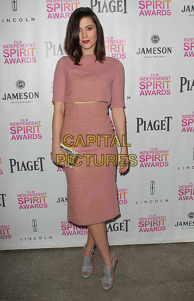 Mary Elizabeth Winstead.2013 Film Independent Filmmaker Grant And Spirit Awards Nominees Brunch held at BOA Steakhouse, West Hollywood, California, USA..January 12th, 2013.full length pink dress silver clutch bag pale blue sandals shoes  .CAP/ADM/KB.©Kevan Brooks/AdMedia/Capital Pictures.