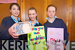First year students at St Joseph's Secondary School in Ballybunion demonstrating their science skills at the first year science fair and competition. .L-R Michelle Boyle, Ann Marie Francis and Denise Buckley who made their own make-up from natural products including coffee, rose water and beeswax