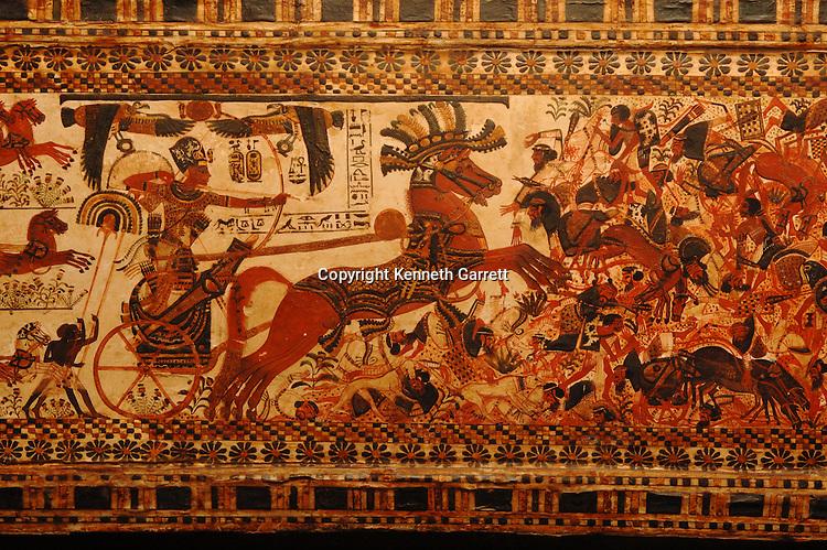 Egyptian Museum; Cairo; 18th dynasty; Pharaoh; Tut; Tutankhamen, Tutankhamun, painted box