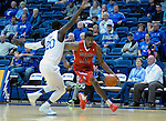 January 11, 2017:  Fresno State guard, Paul Watson #3, drives the baseline during the NCAA basketball game between the Fresno State Bulldogs and the Air Force Academy Falcons, Clune Arena, U.S. Air Force Academy, Colorado Springs, Colorado.  Air Force defeats Fresno State 81-72.