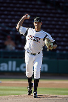 Eric Gonzalez of the Lake Elsinore Storm during game against the Bakersfield Blaze at The Diamond in Lake Elsinore,California on July 25, 2010. Photo by Larry Goren/Four Seam Images