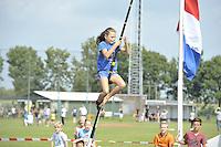 FIERLJEPPEN/POLSSTOKVERSPRINGEN: 03-09-2016, Linschoten, NK Jeugd, Maureen Westerhof (Maureen Westerhof Sneek meisjes tot en met 10 jaar), ©foto Martin de Jong