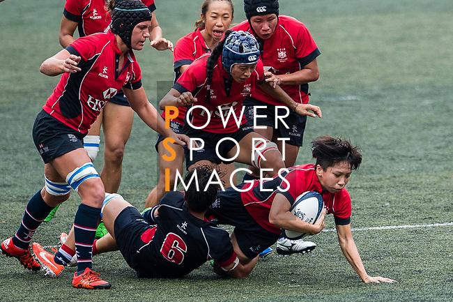 Lee Tsz Ting of Lions (R) in action during the Women's National Super Series 2017 on 13 May 2017, in Hong Kong Football Club, Hong Kong, China. Photo by Marcio Rodrigo Machado / Power Sport Images