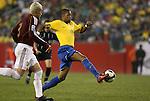 06 June 2008: Robinho (BRA) (11). The Venezuela Men's National Team defeated the Brazil Men's National Team 2-0 at Gillette Stadium in Foxboro, Massachusetts in an international friendly soccer match.