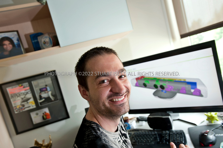 """7/11/2010--REDMOND, WA, USA..Alex Kipman, Microsoft's director of innovation for Xbox 360, in his office on Microsoft's campus near Seattle, WAS. ..Kinect for Xbox which  consists of a depth sensor that uses infrared signals to create a digital 3-D model of a player's body as it moves, a video camera that can pick up fine details such as facial expressions, and a microphone that can identify and locate individual voices. Kinect for Xbox 360, or simply Kinect was originally known by the code name Project Natal...Kinect was first announced on June 1, 2009 at E3 2009 under the code name """"Project Natal"""". Following in Microsoft's tradition of using cities as code names, """"Project Natal"""" was named after the Brazilian city of Natal as a tribute to the country by Microsoft director Alex Kipman, who incubated the project, and who originates from Brazil...©2010 Stuart Isett. All rights reserved."""