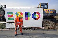 - Milano, apertura del cantiere per l'Esposizione Mondiale Expo 2015<br /> <br /> - Milan, opening of the construction site for the World Exhibition Expo 2015